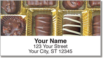 Box of Chocolates Address Labels