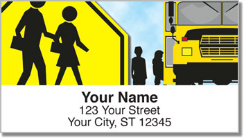 Road Sign Address Labels
