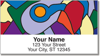 Cubism Art Address Labels