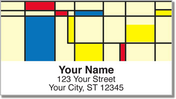 Modern Art Address Labels