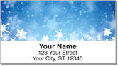 Holiday Snowflake Address Labels
