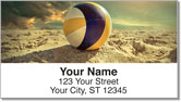 Beach Volleyball Address Labels