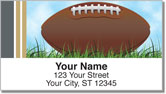 Black & Gold Football Fan Address Labels