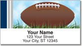 Blue & Silver Football Fan Address Labels