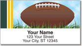 Green & Gold Football Fan Address Labels