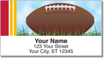 Red & Gold Football Fan Address Labels
