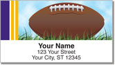 Purple & Yellow Fan Football Address Labels