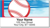 Red & Blue Baseball Fan Address Labels