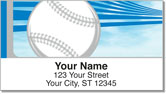 Silver & Blue Baseball Fan Address Labels
