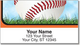 Orange & Black Baseball Fan Address Labels
