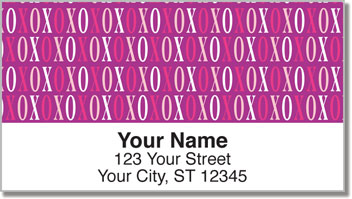 Hugs & Kisses Address Labels