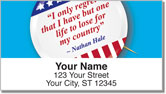 Patriotic Button Address Labels