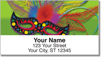 Mardi Gras Address Labels