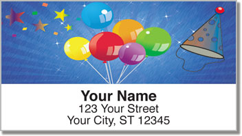 Party Balloon Address Labels