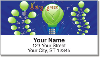 Doing Green Address Labels