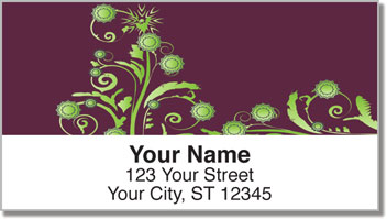 Swirl Flower Address Labels