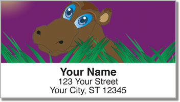 Hungry Hippo Address Labels