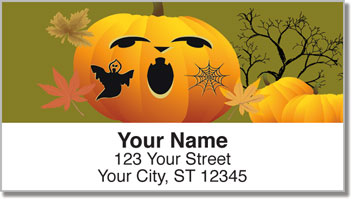 Jack-o-Lantern Address Labels