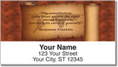 Patriotic Quote Address Labels