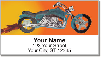 Motorcycle Daydream Address Labels