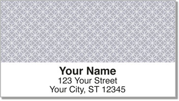 Geometric Pattern Address Labels