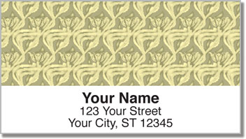 Vintage Wallpaper Address Labels