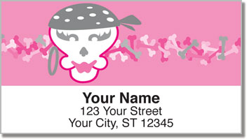 Girly Skull Address Labels