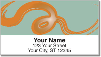 Wet Paint Swirl Address Labels