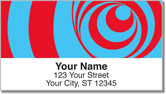 Optical Illusion Address Labels