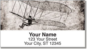 Vintage Plane Address Labels