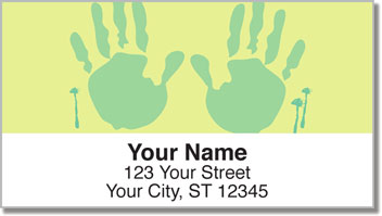 Hand & Footprint Address Labels