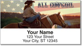 Rodeo Cowgirl Address Labels