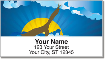 Birds in Flight Address Labels