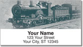Vintage Train Address Labels