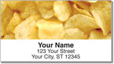 Snack Food Address Labels