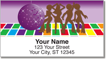 Seventies Fun Address Labels