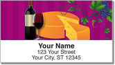 Wine & Cheese Address Labels