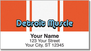 Detroit Muscle Address Labels