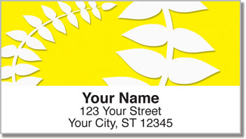 Plant Silhouette Address Labels
