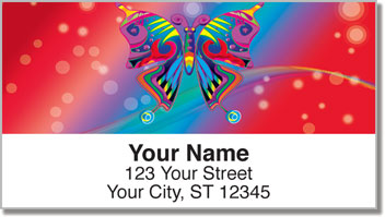 Psychedelic Butterfly Address Labels