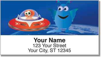 Adorable Alien Address Labels