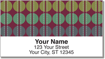 Polka Dot Split Address Labels
