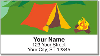 Camping & Hiking Address Labels