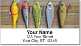 Lucky Fishing Lure Address Labels