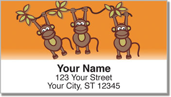 Funky Monkey Address Labels