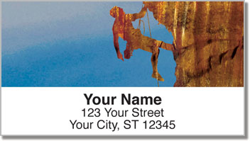 Rock Climber Address Labels