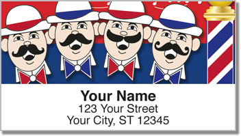 Barbershop Quartet Address Labels