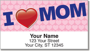 I Love Mom Address Labels