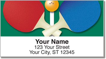 Ping Pong Address Labels