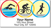 Triathlon Address Labels